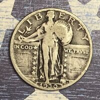 1930 STANDING LIBERTY SILVER QUARTER COLLECTOR COIN. SHIPS FREE