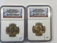 2007-P & D GEORGE WASHINGTON DOLLAR $1 FIRST DAY OF ISSUE NGC BRILLIANT UNC.
