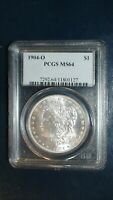 1904 O MORGAN SILVER DOLLAR PCGS MINT STATE 64 UNCIRCULATED $1 COIN PRICED TO SELL NOW