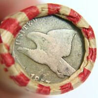 1857 FLYING EAGLE & LINCOLN WHEAT PENNY ON ENDS OF A WHEAT C
