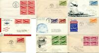 USA AIRMAIL FDC FIRST DAY ISSUE C25 C31 COVER POSTAGE STAMPS CACHET COLLECTION