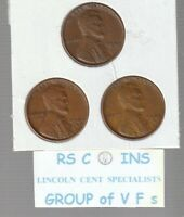 1949  &  1949D  &  1949S       FINES    LINCOLN  CENT  3  COIN  SET