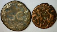 2 BETTER TYPE ANCIENT ROMAN BRONZE COINS   NICE 2 COIN LOT W