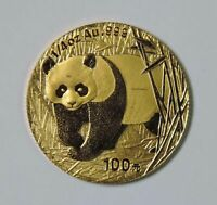 2002 CHINA PANDA 100 YUAN 1/4 OZ .999 GOLD COIN SCARCE DATE