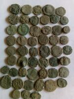 013.LOT OF 50 ANCIENT ROMAN BRONZE COINS UNCLEANED