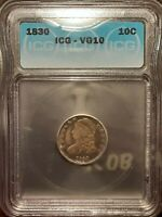 1830 CAPPED BUST DIME 10C ICG VG 10  SMALL 10C  JR 2