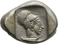 LANZ GREEK PAMPHYLIA STATER 460 BC SIDE ATHENA POMEGRANATE S