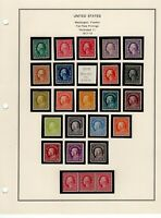 1917 19 MINT COLLECTION INCLUDING 498 518 WITH 505 512A AND
