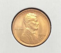 GEM BU RED DETAILS  1914 D LINCOLN CENT WHEAT CENT    KEY DATE P0287
