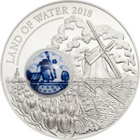 COOK ISLANDS 2018 10$ ROYAL DELFT LAND OF WATER SILVER COIN