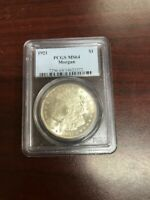 1921 PCGS MINT STATE 64 $1 MORGAN COIN
