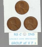 1935PDS    1936PDS    1937PDS    FINE TO V F   LINCOLN  CENT  9  COIN SET