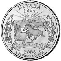 2006 P NEVADA STATE QUARTER BU COIN CLAD. FINISH YOUR COIN B