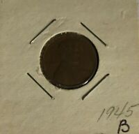 1945 LINCOLN WHEAT CENT COPPER 1 CENT UNITED STATES COIN B