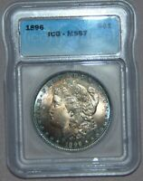 1896 MORGAN SILVER DOLLAR  ICG MINT STATE 67,  HIGH GRADE - WOW GREAT TONING