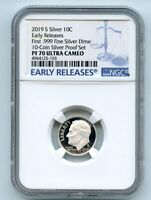 2019 S 10C SILVER ROOSEVELT DIME NGC PF70UCAM EARLY RELEASES