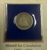 1875 S UNITED STATES SILVER SEATED LIBERTY TWENTY CENT PIECE 20C COIN