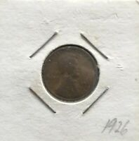 1926 LINCOLN WHEAT CENT COPPER 1 CENT UNITED STATES COIN
