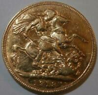 KING GEORGE V 1913 FULL SOVEREIGN COIN 22CT SOLID GOLD 8 GRA