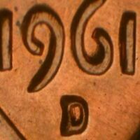 1961 D LINCOLN MEMORIAL CENT RPM 037 STAGE A BU
