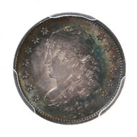 1830 CAPPED BUST H10C PCGS CERTIFIED MINT STATE 64 CHOICE TONED US SILVER HALF DIME COIN
