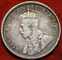 1913 CANADA 10 CENTS SILVER FOREIGN COIN