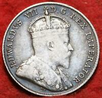 1910 CANADA 10 CENTS SILVER FOREIGN COIN
