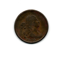 1806 DRAPE BUST HALF CENT GREAT DETAIL & EYE APPEAL >>>>   REDUCED