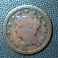 1854   BRAIDED HAIR  LARGE CENT