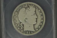 ANACS G-6   1914-P BARBER HALF DOLLAR  LOW MINTAGE