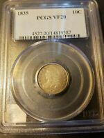 1835 CAPPED BUST DIME   PCGS VF20