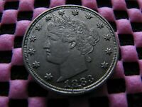 1883 NC LIBERTY NICKEL WITH SHATTERED OBVERSE