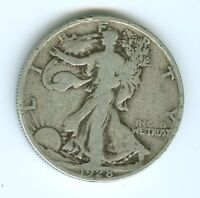 1928-S WALKING LIBERTY HALF DOLLAR--CIRCULATED