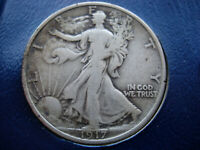 1917 VF WALKING LIBERTY SILVER HALF DOLLAR - L157