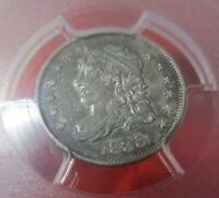 1835 CAPPED BUST  SILVER HALF DIME / 5 CENTS   PCGS EXTRA FINE  45  LG DATE  LG 5C