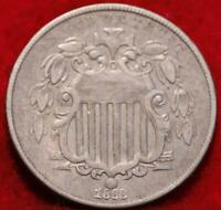 1868 PHILADELPHIA MINT SHIELD NICKEL