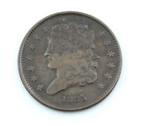 1835   P UNITED STATES CLASSIC HEAD HALF CENT COIN   KEY DAT