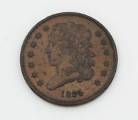AUTHENTIC UNITED STATES 1835 CLASSIC HEAD HALF CENT COIN  NR