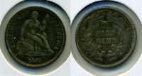 1861 LIBERTY SEATED HALF DIME - VF   TYPE COIN