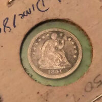 1841 O SEATED LIBERTY HALF DIME IN ABOUT  FINE CONDITION  COIN