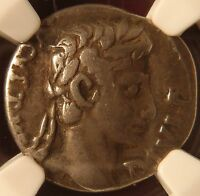 ROMAN AUGUSTUS 27BC  14AD FOURREE SILVER PLATED DENARIUS ANCIENT FORGERY NGC