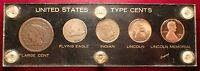 UNITED STATES CENT TYPE SET IN ACRYLIC PLASTIC HOLDER