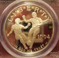 1994 S PROOF WORLD CUP UNITED STATES SILVER DOLLAR PCGS PR69DCAM