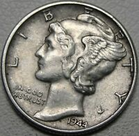 1944 10C MERCURY DIME WINGED LIBERTY HEAD 90  SILVER 13427