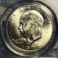 1971-S EISENHOWER SILVER DOLLAR  PCGS MINT STATE 65 COLLECTOR COIN