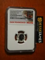 2018 S 10C REVERSE PROOF SILVER DIME NGC PF69 EARLY RELEASES TROLLEY LABEL