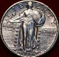 UNCIRCULATED 1930 S SAN FRANCISCO MINT SILVER STANDING LIBER