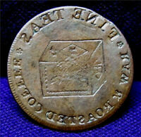 1814 BROCKAGE ERROR JOHN HARROP TEA TOKEN