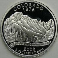 2006 S 25C COLORADO SILVER STATE QUARTER PROOF UNC 90  SILVER 13690