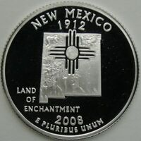 2008 S 25C NEW MEXICO SILVER STATE QUARTER PROOF UNC 90  SILVER 13718
